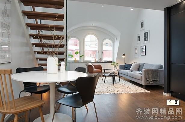 庆源装饰复式小楼现代简约装修效果图2014