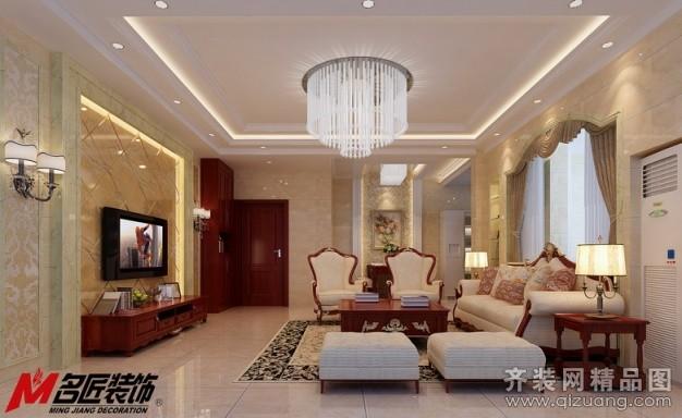 名匠装饰水岸豪庭d#105欧式风格装修效果图