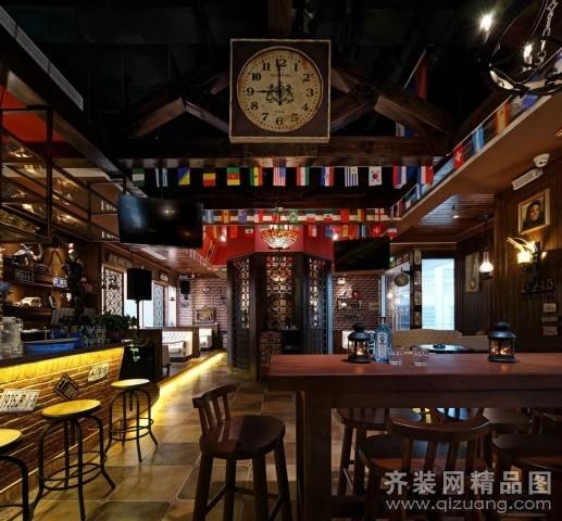 如木装饰酒吧美式风格装修效果图