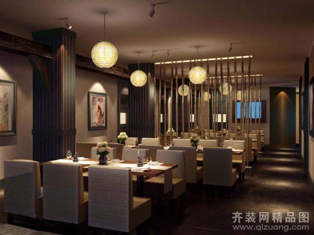 博舟装饰料理餐厅欧式风格装修效果图