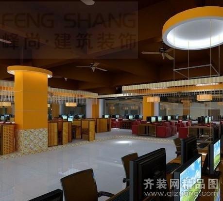 安徽峰尚建筑裝飾網吧裝飾現代簡約裝修效果圖