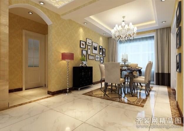 世纪东城-三居室-时尚欧式风格现代简约装修效果图