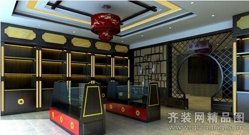 安徽斧金裝飾茶葉店中式風格裝修效果圖