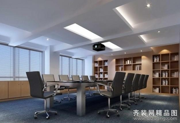 西安逸速装饰会议室现代简约装修效果图
