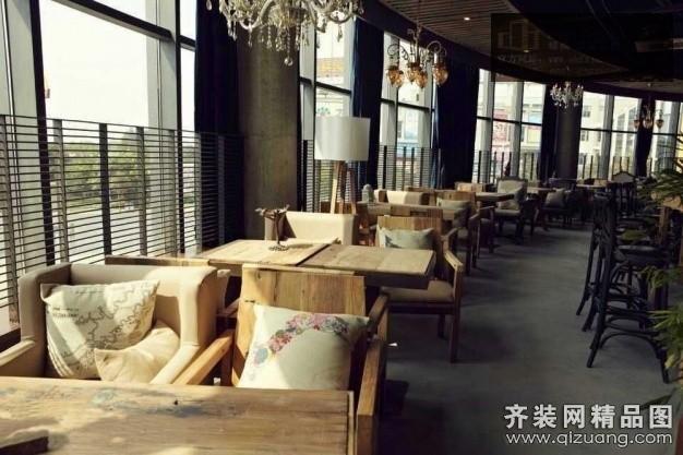 安徽峰尚建筑装饰咖啡厅现代简约装修效果图