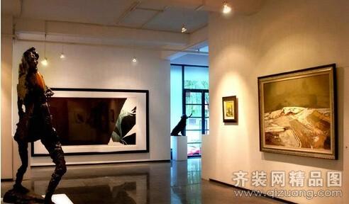 安徽斧金装饰画廊中式风格装修效果图