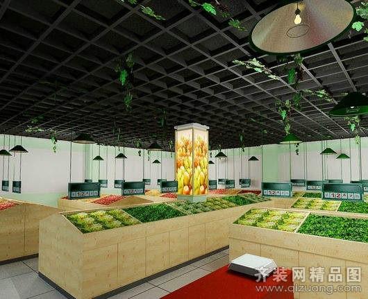 安徽斧金装饰水果超市田园风格装修效果图