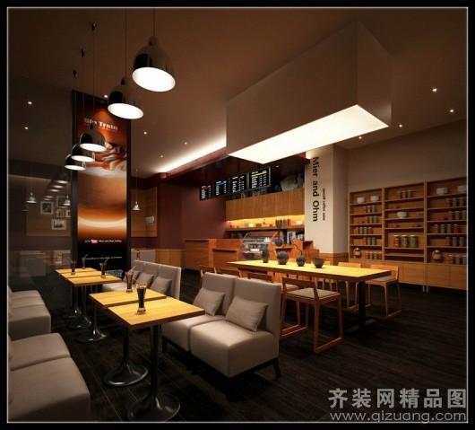 温州旭升装饰咖啡厅装修现代简约装修效果图
