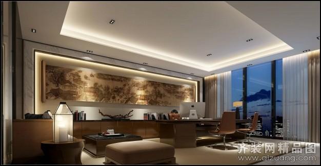 温州旭升装饰办公室装修中式风格装修效果图