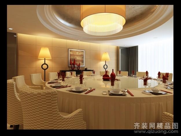 集美装饰餐厅包房欧式风格装修效果图图片