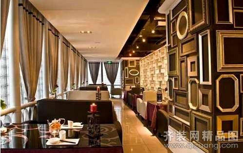 德立凯特装饰茶餐厅现代简约装修效果图2012