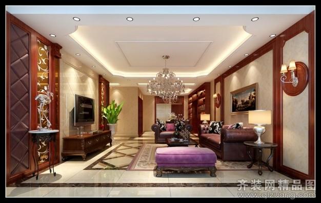 鑫之家装饰琥珀名城中式风格装修效果图