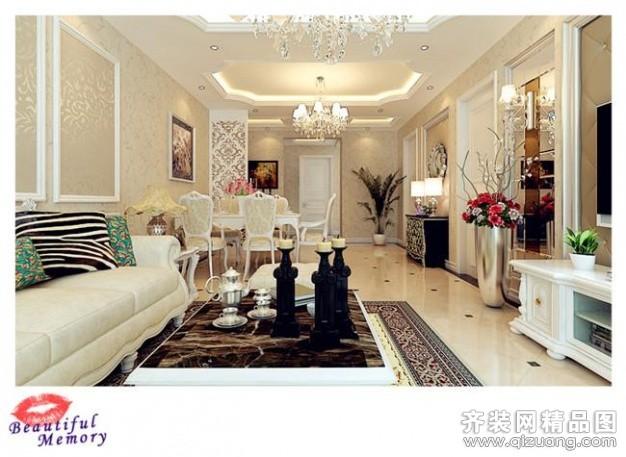 普通户型3室2厅1卫 房屋面积:160平米 装修类型:家装 设计风格:欧式图片