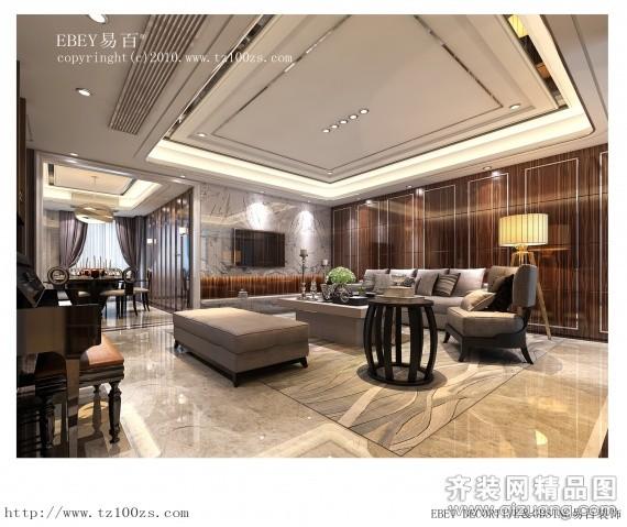 台州易百装饰博沃家园欧式风格装修效果图