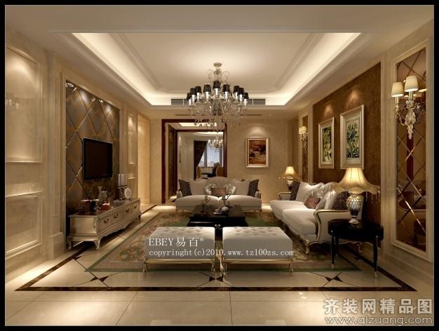 台州易百装饰金色水岸欧式风格装修效果图2013