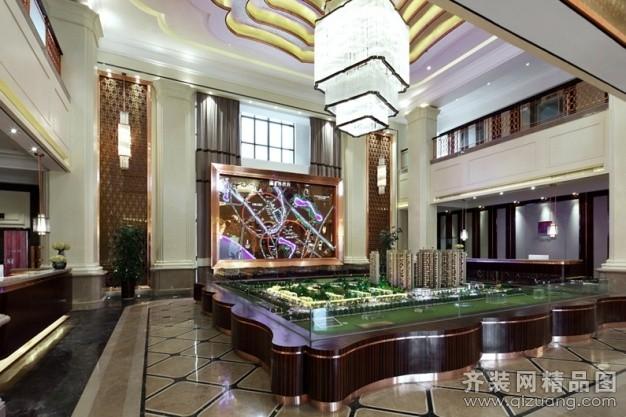 墨深深室内设计某售楼部欧式风格装修效果图