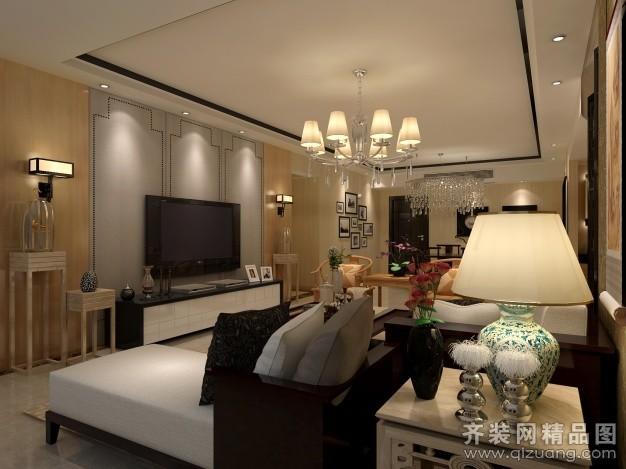 上海顶高装饰【万骏金域丹堤11—甲—1701客厅欧式风格装修效果图图片图片