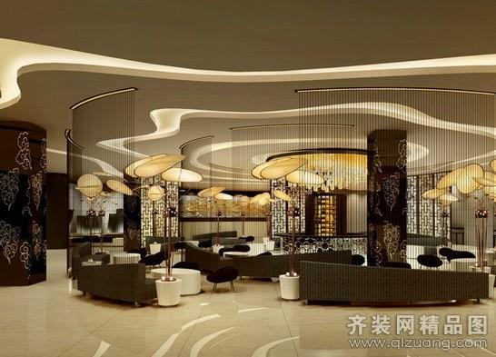 朗特装饰酒店大厅中式风格装修效果图