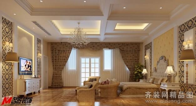 名匠装饰景湖天成27-96号别墅卧室欧式风格装修效果