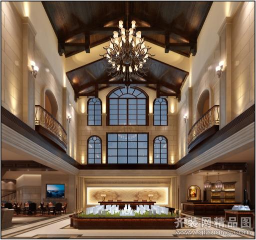 北京宜美家园装饰钱隆城售楼处欧式风格装修效果图