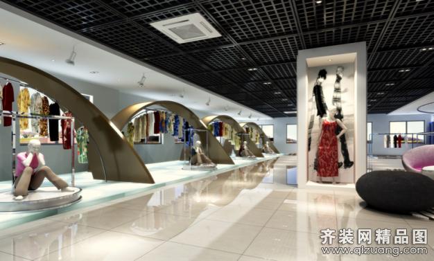 北京宜美家园装饰服装专卖店现代简约装修效果图