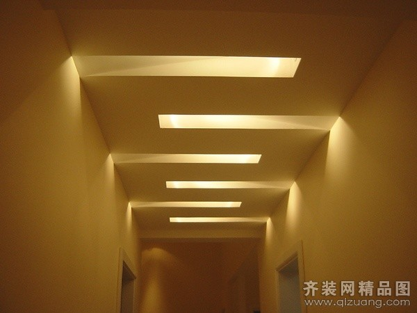 西安景图装饰走廊吊顶图现代简约装修效果图2014
