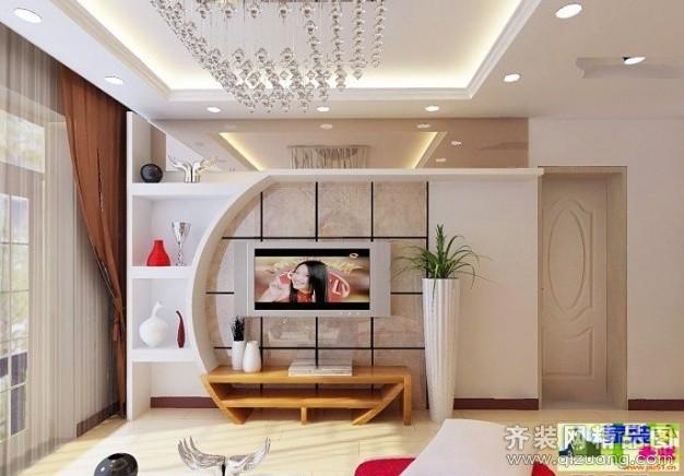 电视背景墙北京现代建筑设计事务所图片