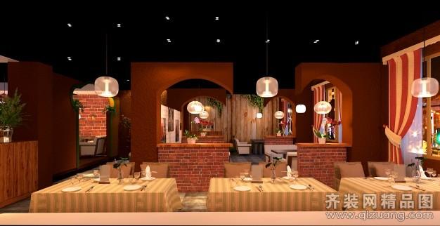 滿堂紅裝飾咖啡廳美式風格裝修效果圖