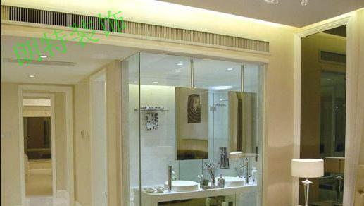 【朗特装饰】开放式主卧玻璃隔断卫生间设计效果图图片