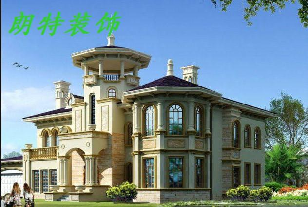 【朗特装饰】2013最新欧式别墅外观效果图
