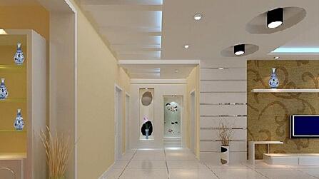 这个欧式走廊吊顶设计充分展现了欧式