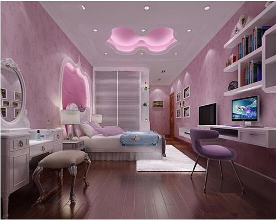 【锦致装饰】怎样装修出漂亮的女生卧室?