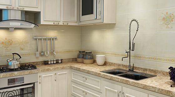 厨房是家庭中一个灵魂所在,在厨房的装修当中也是有一些技巧的,今天就为大家介绍一下佛山厨房装修的技巧以及最新2015年佛山厨房装修效果图。  最新2015年佛山厨房装修效果图 厨房的功能分区。根据功能,厨房可以分为准备、烹饪和贮存这三个工作区域。准备区是用来进行洗菜、配料等预备工作以及在餐后进行洗碗的地方,一些常用品和餐具都会在这里。烹饪区主要就是饭菜的制作,灶具、排烟装置等都在这里。贮存去就是存储食品以及餐具的地方,包括了冰箱和橱柜。  最新2015年佛山厨房装修效果图 厨房的使用面积。使用面积需要大小适