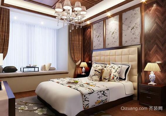 中式背景墙效果图-传统与新中式卧室背景墙 哪款是你的菜