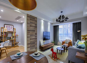 抚州家装分享96平现代简约两居室 闲适的生活节奏