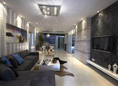 泰安145平米后现代风格装修案例 缔造雅致尊享生活
