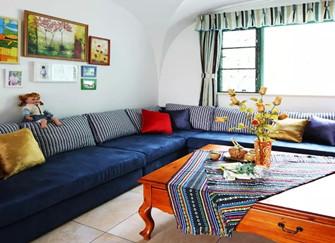 临沭90平两居室家装案例  朴实中带有浪漫情调