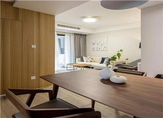 96平两居室最简约装修案例 感受原木风的质感
