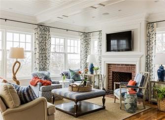 138平米两室两厅田园风装修样板房 装修的美轮美奂