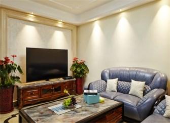 155㎡三居室美式风格装修案例 美的冒泡