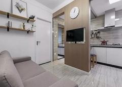 52平米北欧风格小户型装修 现代简约小户型装修案例