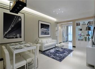 77平2房现代风装修风格样板间 简直是洁癖者专属