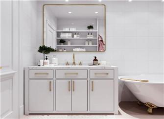90平二室二厅法式装修 全屋三种颜色装出轻奢精致感