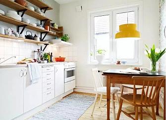 小户型开放式厨房设计怎么做?不试试森系开放式厨房
