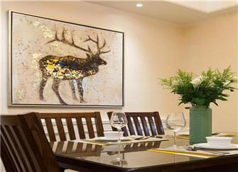 140平美式装修风格样板房 端庄大气三居室
