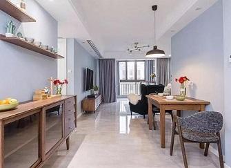 89㎡北欧风 淡蓝色的色调 装修出一个舒适温馨的家