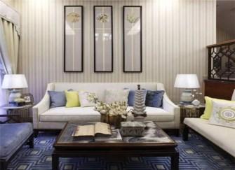 115㎡3室2厅清新素雅的中式风装修案例
