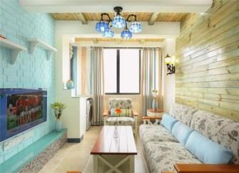 53㎡二居室地中海风装修案例 53平米二居室装修效果图