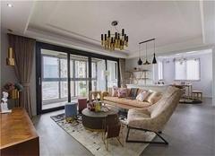 96平米三室的装修效果图 粗中带细神秘紫的全屋应用