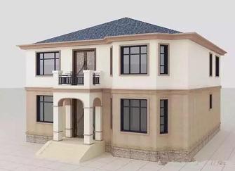 农村15万元二层小楼图 经济实用农村小别墅